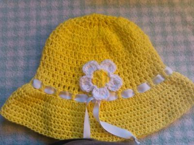 Easy to crochet sun hat. summer hat. gorra para el sol y verano