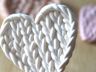 Faux Knitted Pattern: Polymer Clay Tutorial