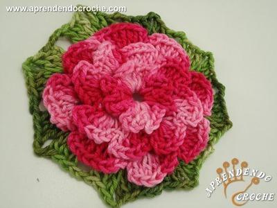 Flor de Croche Rasteirinha - Aprendendo Crochê