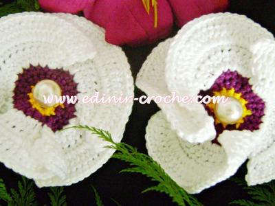 Flores Em Crochê 015 - Flor Papoula