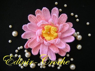 FLORES EM CROCHE 100 AULAS NO YOUTUBE - APRENDER CROCHE