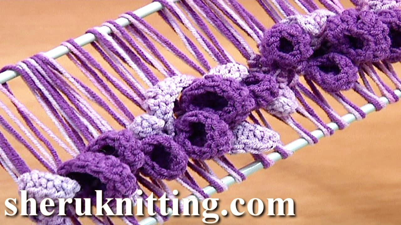 Crochet Wisteria Flower Pattern : Hairpin Lace Crochet Spring Pattern Tutorial 37 Hairpin ...