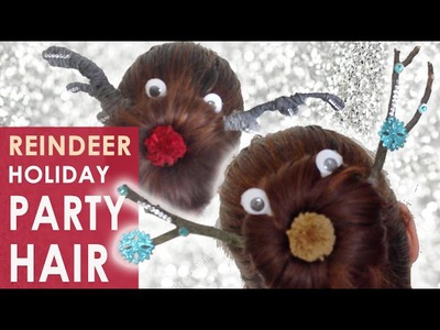 Holiday Party Hairstyle | Reindeer Sock Bun