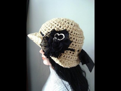 How to CROCHET A SUNHAT, brimmed hat, adult size