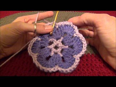 How to Crochet an African Flower Hexagon
