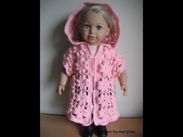 How to crochet baby puff flower body warmer jacket coat tutorial