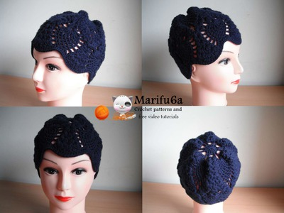 How to crochet pineapple hat free pattern tutorial by marifu6a