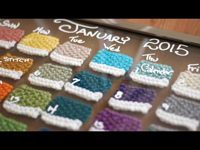 How to Knit a CALENDAR | Pantone Swatch Paint Chip DIY
