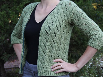 How to knit a cardigan sweater. Knitting tutorial with detailed instructions.