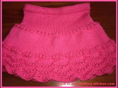 How To Knit A Scallop For Scallop Edge Skirt - Easy Knit Edge