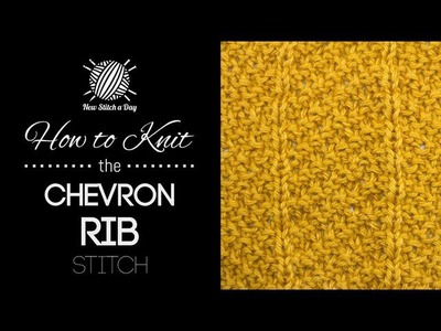 How to Knit the Chevron Rib Stitch