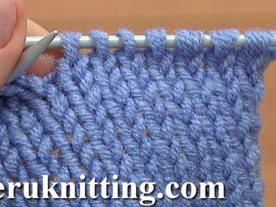 How to Knit The Knit Stitch Tutorial 2 Method 1 of 2 Knit Stitch Worked Into The Back Leg
