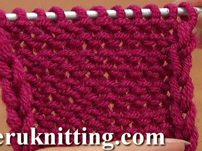 How to Knit The Reverse Stockinette Stitch Tutorial 5 Part 1 of 2 First Way