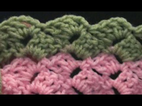 How to Make a Crochet Slanted Shell Variation 2 - Baby Afghan Crochet Geek