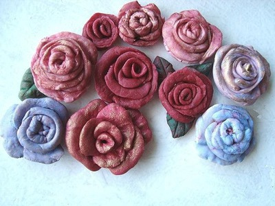 HOW TO MAKE CLAY ROSES