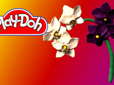 How to make Orchid using Play Doh