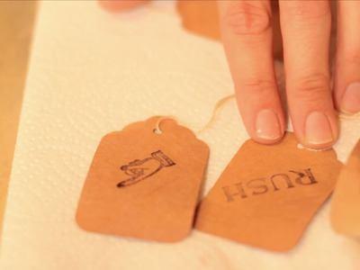 How to Make Tea Tags - Let's Craft with Modernmom