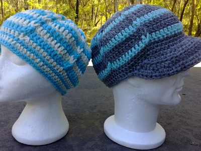 Jacobs Ladder Hat - optional Brim. Peak Crochet Tutorial