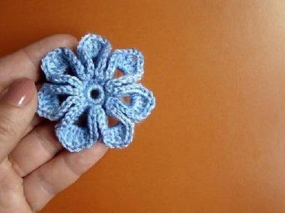 Как связать цветок крючком Урок 36 How to crochet flower