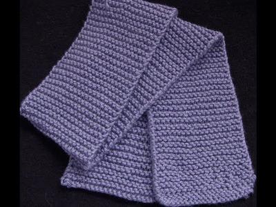 Knit a Garter Stitch Scarf