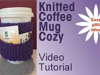 Knitted Coffee Mug Cozy - Easy Holiday DIY Gifts