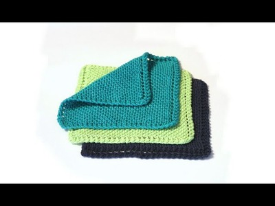 Learn to Knit a Dishcloth