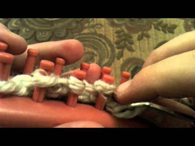 Loom Knitting: How To P2tog (Purl Two Together) and YO (Yarn Over)