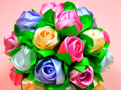 Rose, Learn with Me #1 How to Make a Ribbon Rose (English Version), Ribbon rose tutorial (as