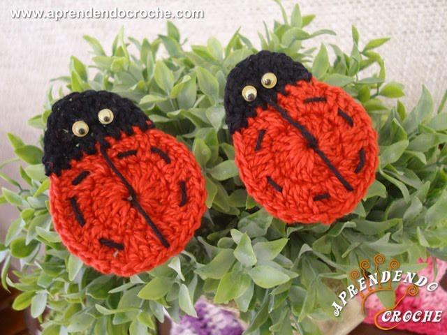 Mini Joaninhas de Crochê - Aprendendo Crochê