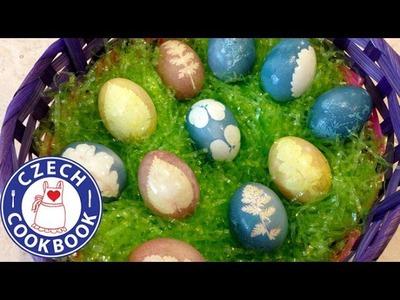 Naturally Dyed Easter Eggs Recipe 2 - Barvená vajíčka 2 - Czech Cookbook