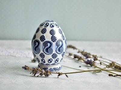 Пасхальное яйцо из полимерной глины  Мастер класс  Пасха 2014  Easter egg made   of polymer clay 1