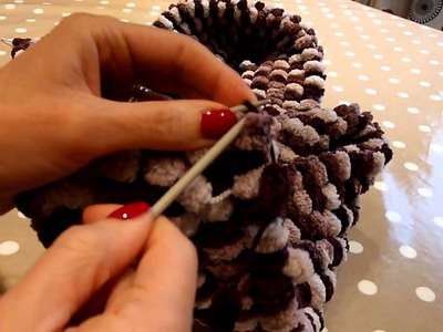 Pom Pom wool knitting tutorial.MTS