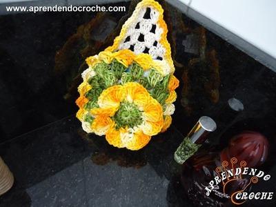 Porta Sabonete em Croche - Aprendendo Crochê