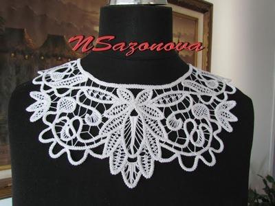 Румынское кружево. Вязаные воротнички. Romanian lace