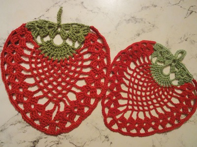 "Салфетка ""Клубника""  Вязание крючком  Napkin  ""Strawberry"" Crocheting"