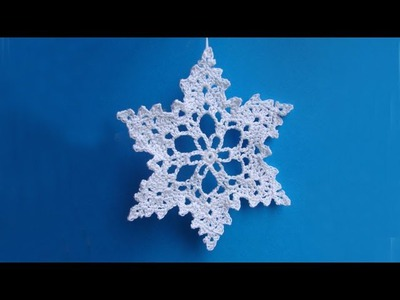 Снежинка крючком How to crochet snowflake  Урок вязания