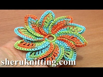 Spiral Flower Crochet Step-by-Step Tutorial 55 hattukukka