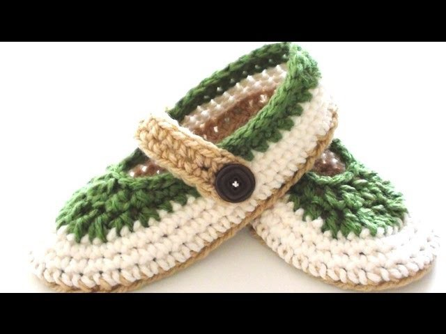 St. Patty Slapper Crochet Slippers - Pt 1 - Sole