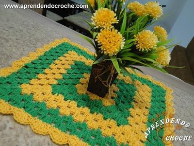Toalhinha de Croche Nacional - Aprendendo Crochê