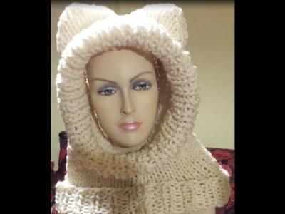 Tutorial cappuccio a maglia ai ferri - knitted hood - gorra tejida con dos agujas