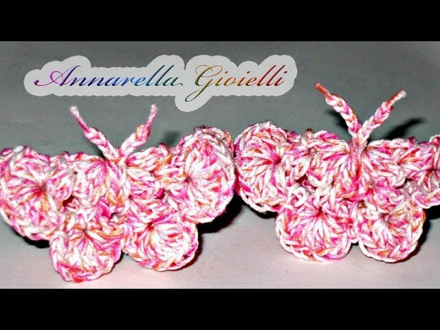 Tutorial - Farfalla all'uncinetto ( crochet butterfly )