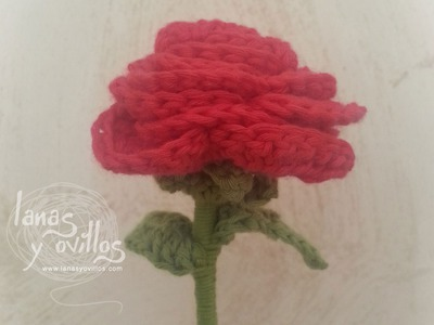Tutorial Rosa Crochet o Ganchillo Flor