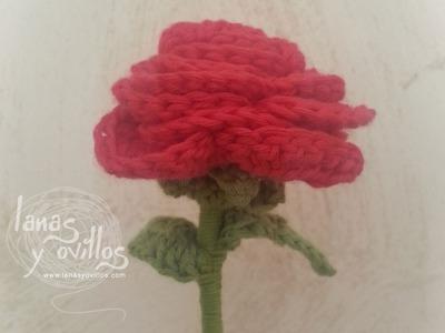 Tutorial Rosa Crochet o Ganchillo Flor