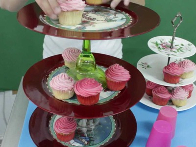 Tutorial: Soporte facil para cupcakes. Easy cupcakes stand