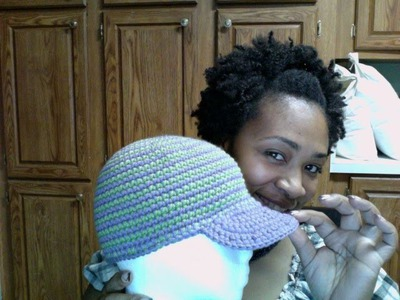 Tutorial Tuesday# 27 Striped Brimmed Cap (LATE)