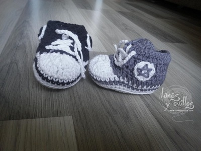 Tutorial Zapatillas Bebé Crochet o Ganchillo Sneakers