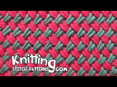 Two color Woven Plait stitch
