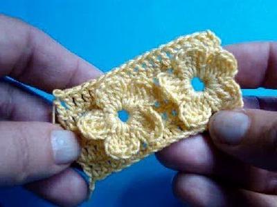 Узор вязания крючком 7 - Цветы - Crochet pattern Flowers