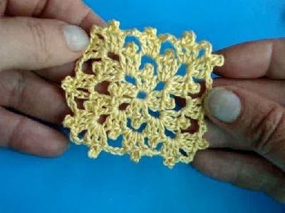 Вязание крючком - Урок 207 - Как вязать квадрат - crochet square