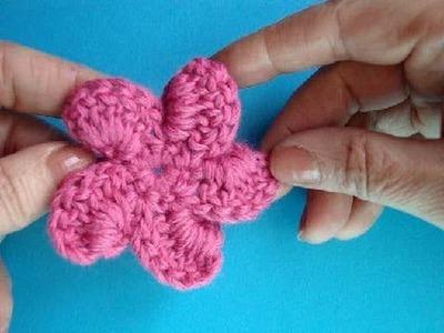 Вязаный цветок Урок17 Crochet flower Fiore a maglia